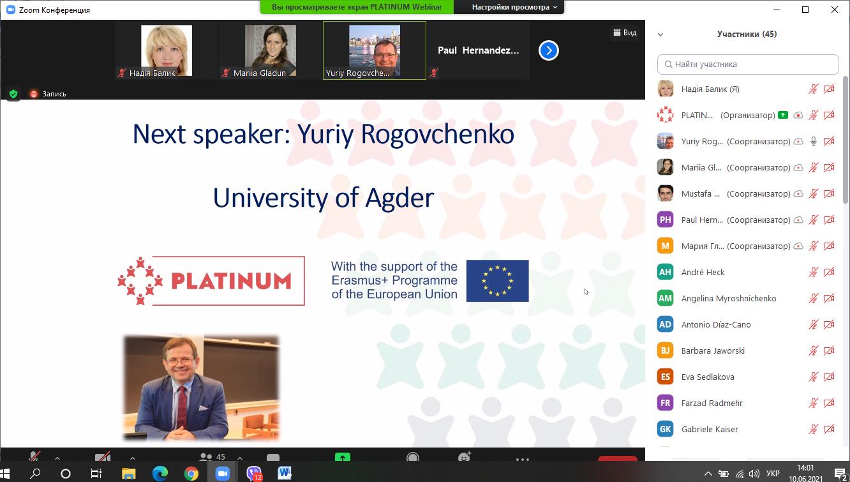 (Українська) Науковці ТНПУ – спікери міжнародного вебінару